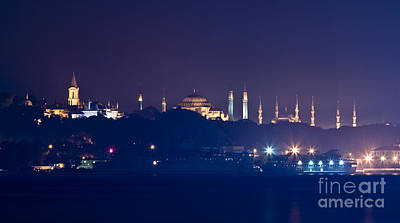A Different Silhouette Of Istanbul Print by Leyla Ismet