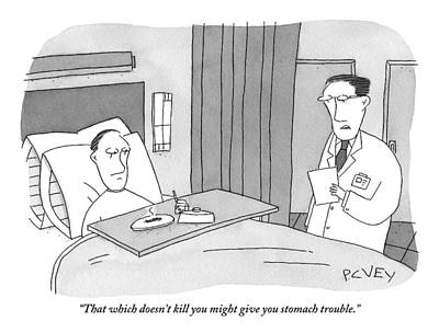 A Doctors Is Seen Talking To A Bed-bound Patient Print by Peter C. Vey