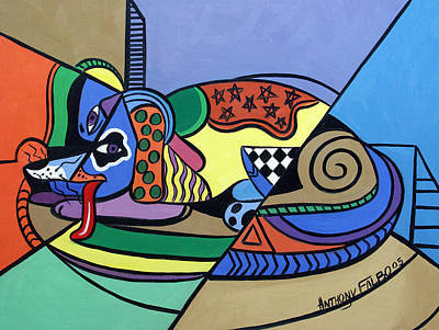 Dog Artist Digital Art - A Dog Named Picasso by Anthony Falbo