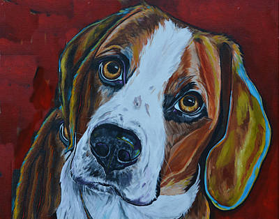 Soulful Eyes Painting - A Dogs World by Patti Schermerhorn