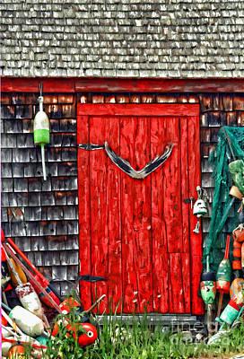 A Door In Maine Print by Darren Fisher