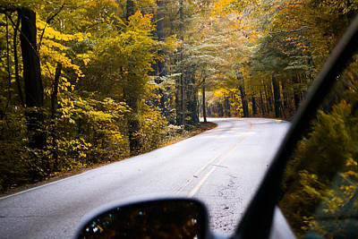 A Drive Through Autumn Print by Shelby  Young