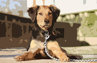 Pup Digital Art - A Faithful Friend by Christiane Schulze Art And Photography