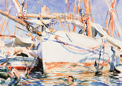 Yacht Painting - A Falucho by John Singer Sargent