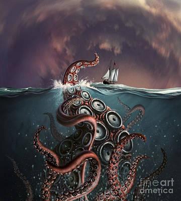 Underwater View Digital Art - A Fantastical Depiction by Jerry LoFaro