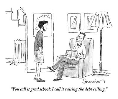 Debt Drawing - A Father To His Bearded by Danny Shanahan