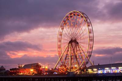 A Ferris Wheel On The South Pier Print by Ashley Cooper