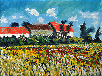 Landscape Painting - A Field In France by Paul Sutcliffe