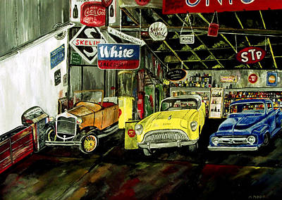 Road Rod Painting - A Fine Time  by Mark Moore
