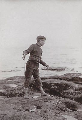 Angling Photograph - A Fisher Laddie by James Patrck