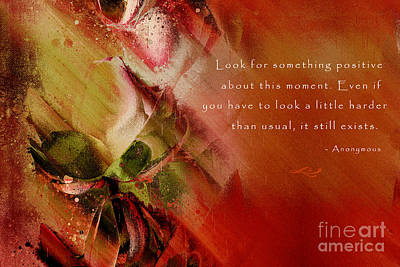 Abstract Realism Digital Art - A Fleur De Peau - Happiness Quote 01 by Aimelle