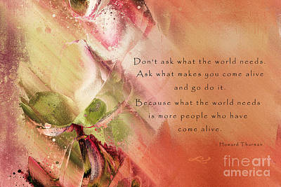 Abstract Realism Digital Art - A Fleur De Peau - Happiness Quote 02 by Aimelle