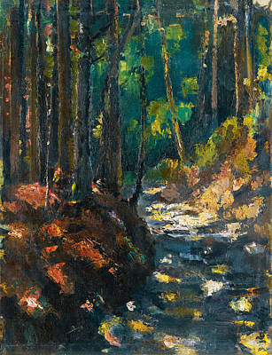 Anton Faistauer Painting - A Forest Path by Anton Faistauer