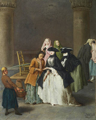 Pietro Longhi Painting - A Fortune Teller At Venice by Pietro Longhi