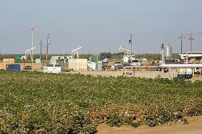 A Fracking Site Near Wasco Print by Ashley Cooper