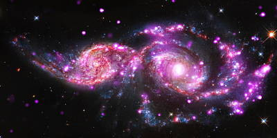 Ic Photograph - A Galactic Get-together by Nasa