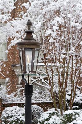 Antebellum Photograph - A Gas Lamp In Historic Twickenham by William Sutton