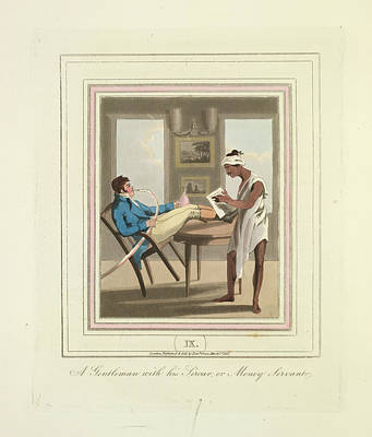 A Gentleman And A Money Servant Print by British Library
