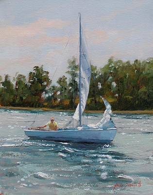 Rhodes Painting - A Gift Of Memories Two On Rhodes 19 by Laura Lee Zanghetti