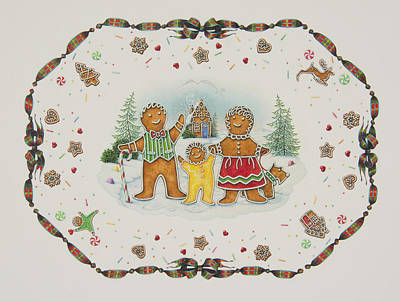 Candy Painting - A Gingerbread Christmas by Lynn Bywaters