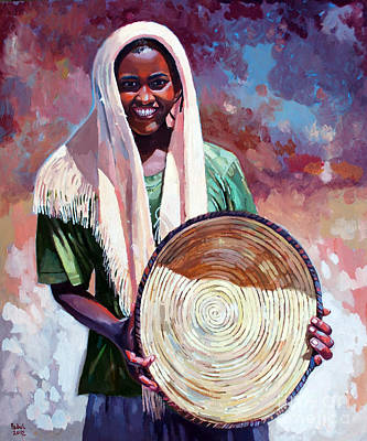 A Girl From The Countryside Print by Mohamed Fadul