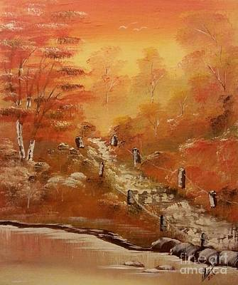Landscape Painting - A Glimpse Of Autumn by Collin A Clarke