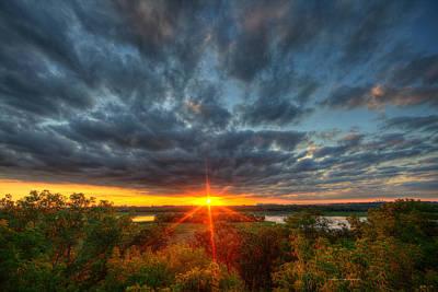 Minneapolis Skyline Photograph - A Glorious Minneapolis Sunset by Wayne Moran