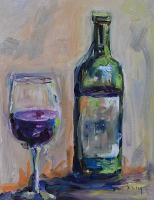 Syrah Painting - A Good Pour by Donna Tuten