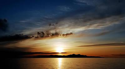 A Great Salt Lake Sunset Print by Steven Milner