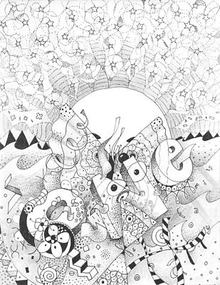 All Around Us Drawing - A Greater Understanding by Helena Tiainen