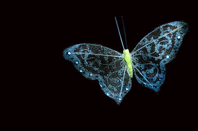 A Green Ornamental Butterfly  Original by Toppart Sweden