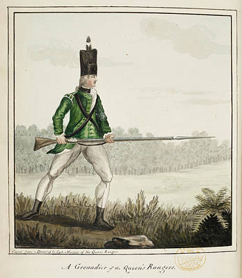 A Grenadier Of The Queen's Rangers Print by British Library