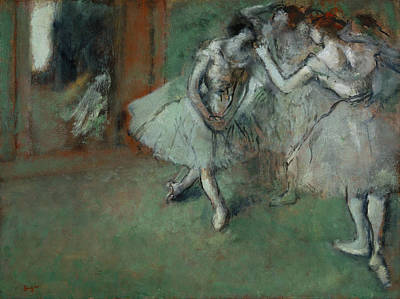 A Group Of Dancers Print by Edgar Degas