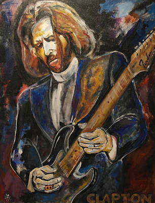 Slowhand Painting - A Guitar God Speaks by John W Barth