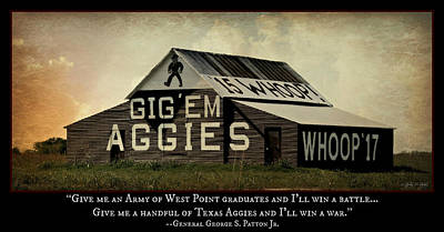 A Handful Of Aggies Print by Stephen Stookey