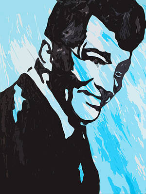 A Happy Dean Martin Print by Robert Margetts