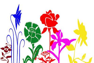 A Happy Garden Print by Tina M Wenger