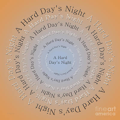 John Lennon Digital Art - A Hard Day's Night 3 by Andee Design