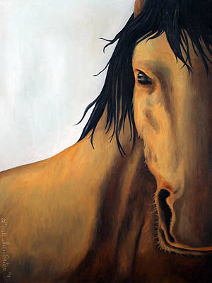 Horse Eye Painting - A Horse With No Name Edit 2 by Leah Saulnier The Painting Maniac