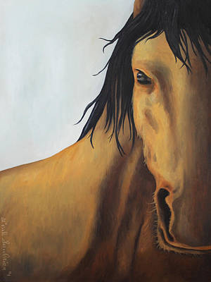 Horse Eye Painting - A Horse With No Name by Leah Saulnier The Painting Maniac