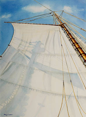 Historic Schooner Painting - A. J. Meerwald Clear Day by Phyllis London
