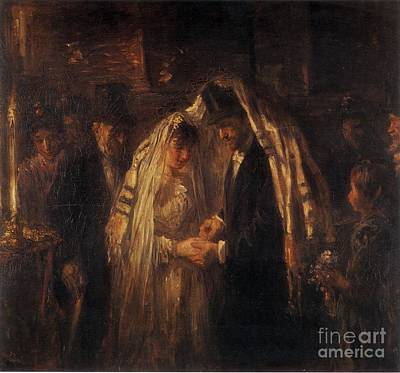 Orthodox Painting - A Jewish Wedding by Celestial Images