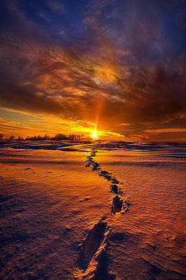 Footprints Photograph - A Journey To The Shining Star by Phil Koch