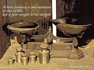 A Just Weight Print by Sheri McLeroy