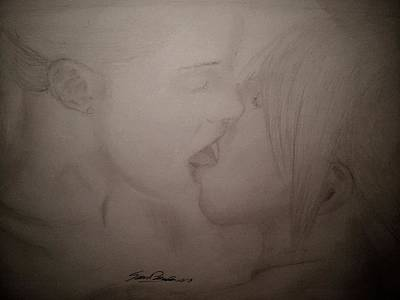 A Kiss Print by Samuel Palibroda
