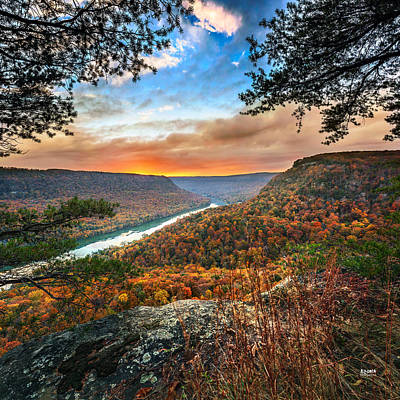 Fall Colors Photograph - A Late Autumn View by Steven Llorca