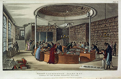 Religious Art Photograph - A Library by British Library