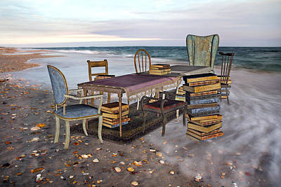 A Library Of Oceans Original by Betsy C Knapp
