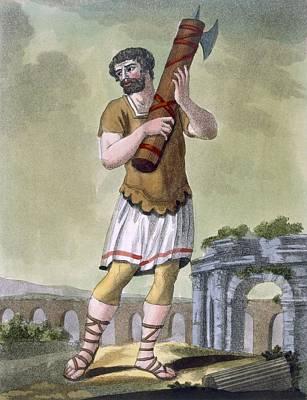 A Lictor, Bearer Of The Fasces Print by Jacques Grasset de Saint-Sauveur