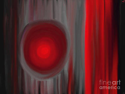 Artrage Painting - A Light In The Dark by Anita Lewis